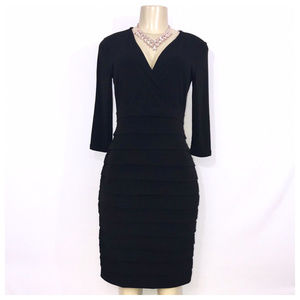 Ann Taylor Black Layered Dress Petite 4